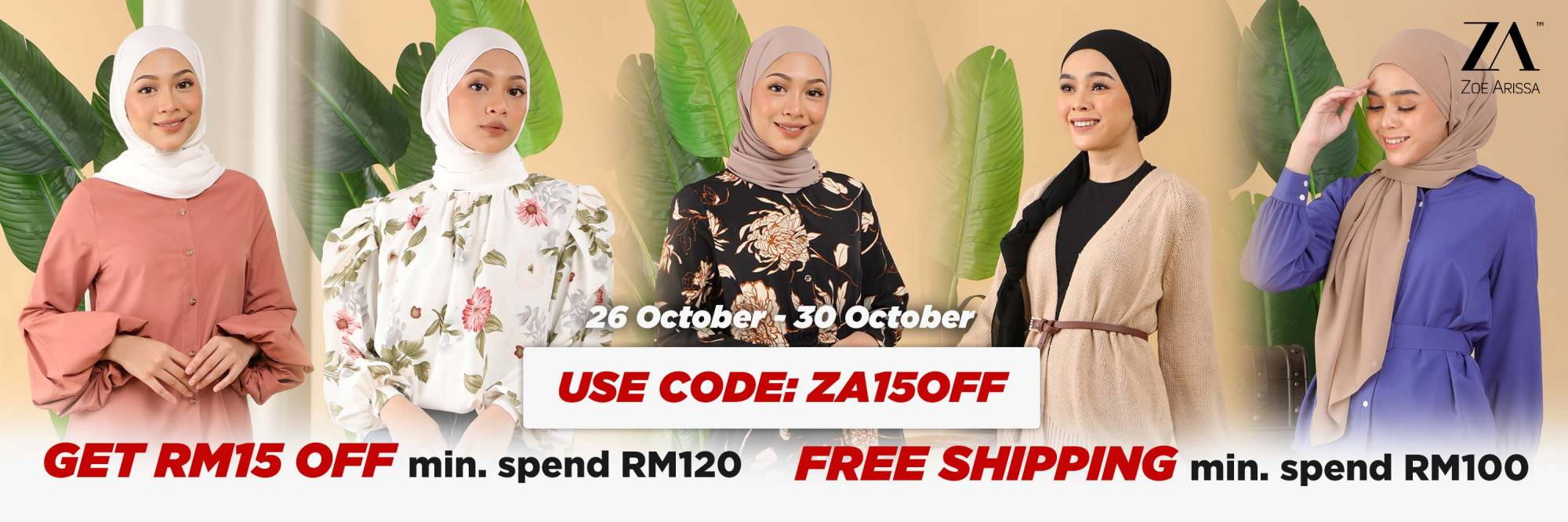 Spend RM120 to get RM15 OFF