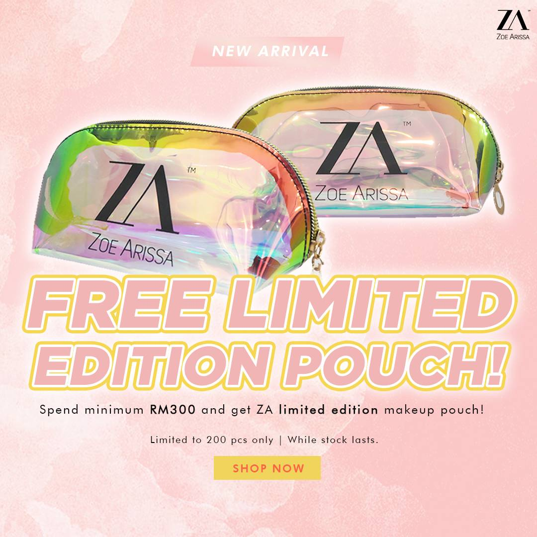 FREE MAKEUP POUCH!