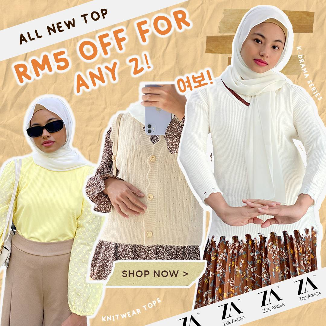 NEW ARRIVAL BUY 2 GET RM5 OFF!