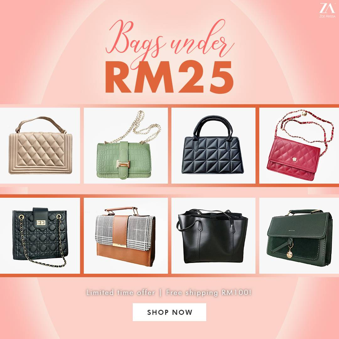 BAGS UNDER RM25
