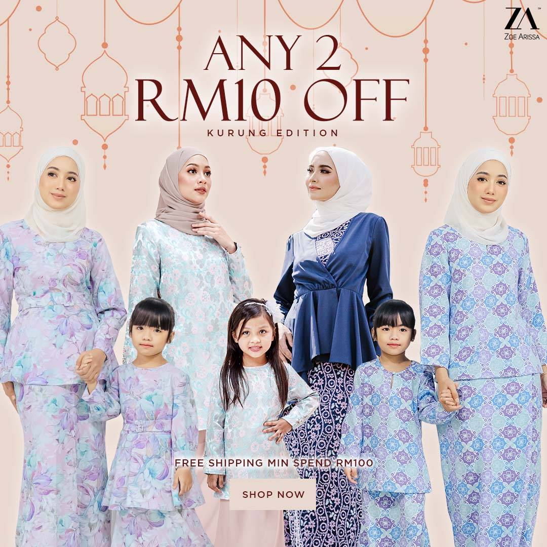 RM10 OFF FOR ANY 2 KURUNG