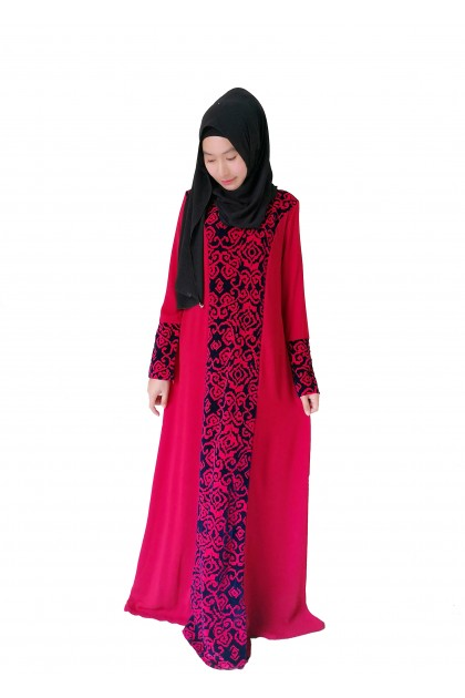 Jubah Long Dress Women Muslimah New Fashion Jubah Velvet Fursan Plus Saiz
