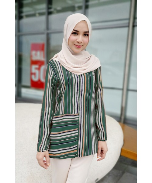 (BF6731) Muslimah Women's Stripe Blouse