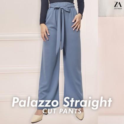 (P713) Palazzo Straight Cut Pants