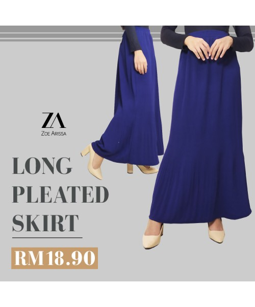 (S1601) Long Pleated Skirt
