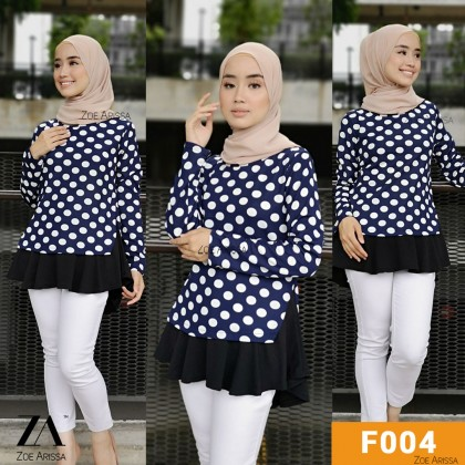 (B030) Women's Abstract and Floral Flowy Blouse