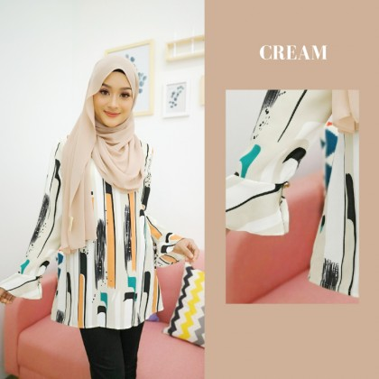 (BF732) Abstract Blouse