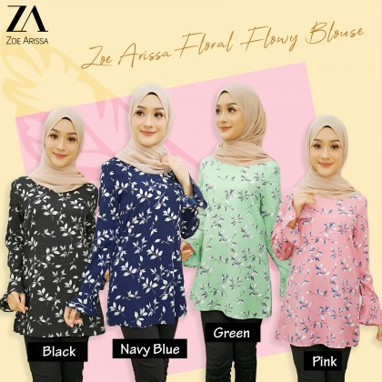(BF739) Mini Printed Floral Blouse