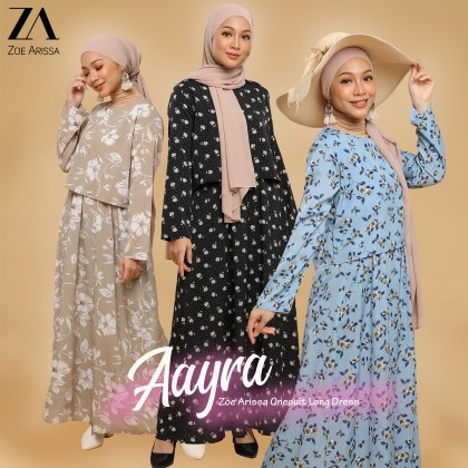 (DS2362) Floral Dress Aayra Onesuit