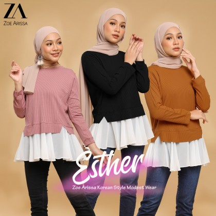 (TF2371) Esther Flowy Knitted Top