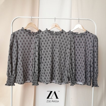 (BF2385) Ateefa Abstract Blouse