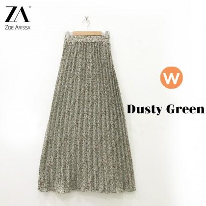 (S9114) Zaweera Pleated Flower Skirt