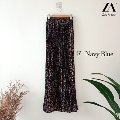 (S9114) Zaweera Pleated Flower Skirt