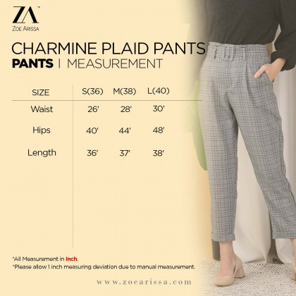 (P2500) Charmine Plaid Pants