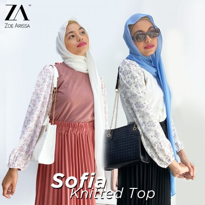 (TF2559) Sofia Knitted Blouse